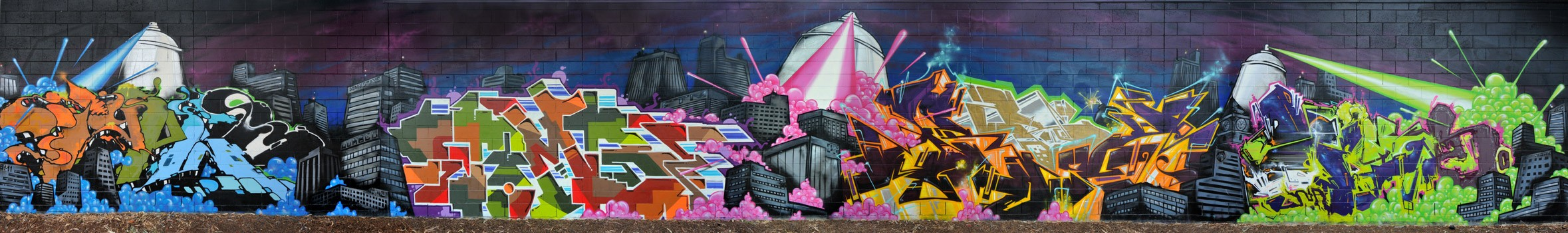NA/MS Spray Can Invasion - Sturt Creek - Adelaide 2012